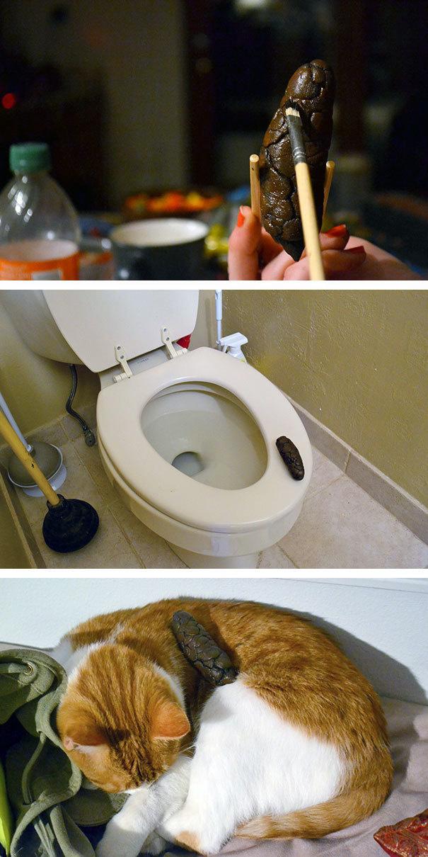 Make a fake piece of poop.
