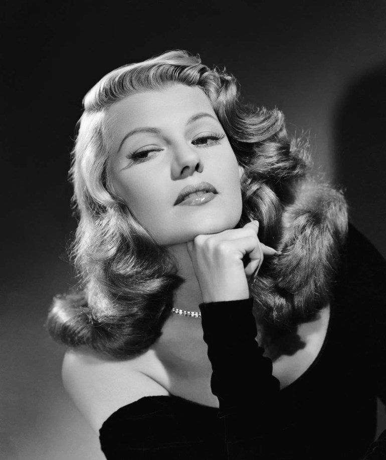 American actress and dancer Rita Hayworth dyed her black hair red and raised her hairline.