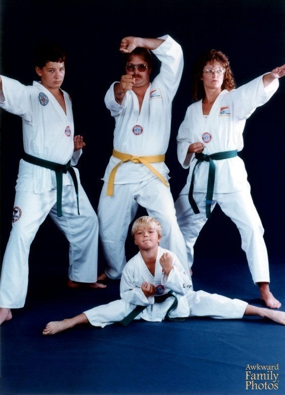 A family that kung fu's together...