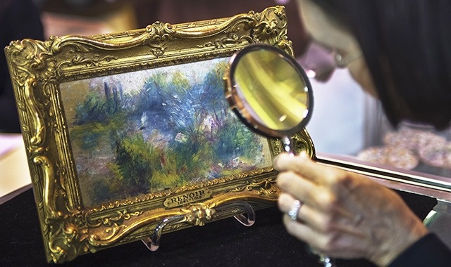 "Pierre-Auguste Renoir's ""Paysage Bords de Seine"" was recently discovered for a few bucks at a Virginia flea market."