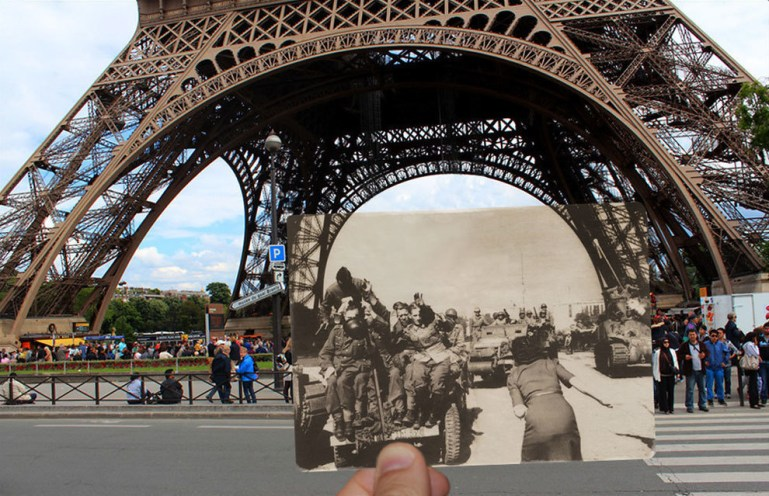 The Eiffel Tower, then and now.
