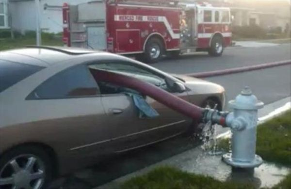 Don't park in front of a fire hydrant.