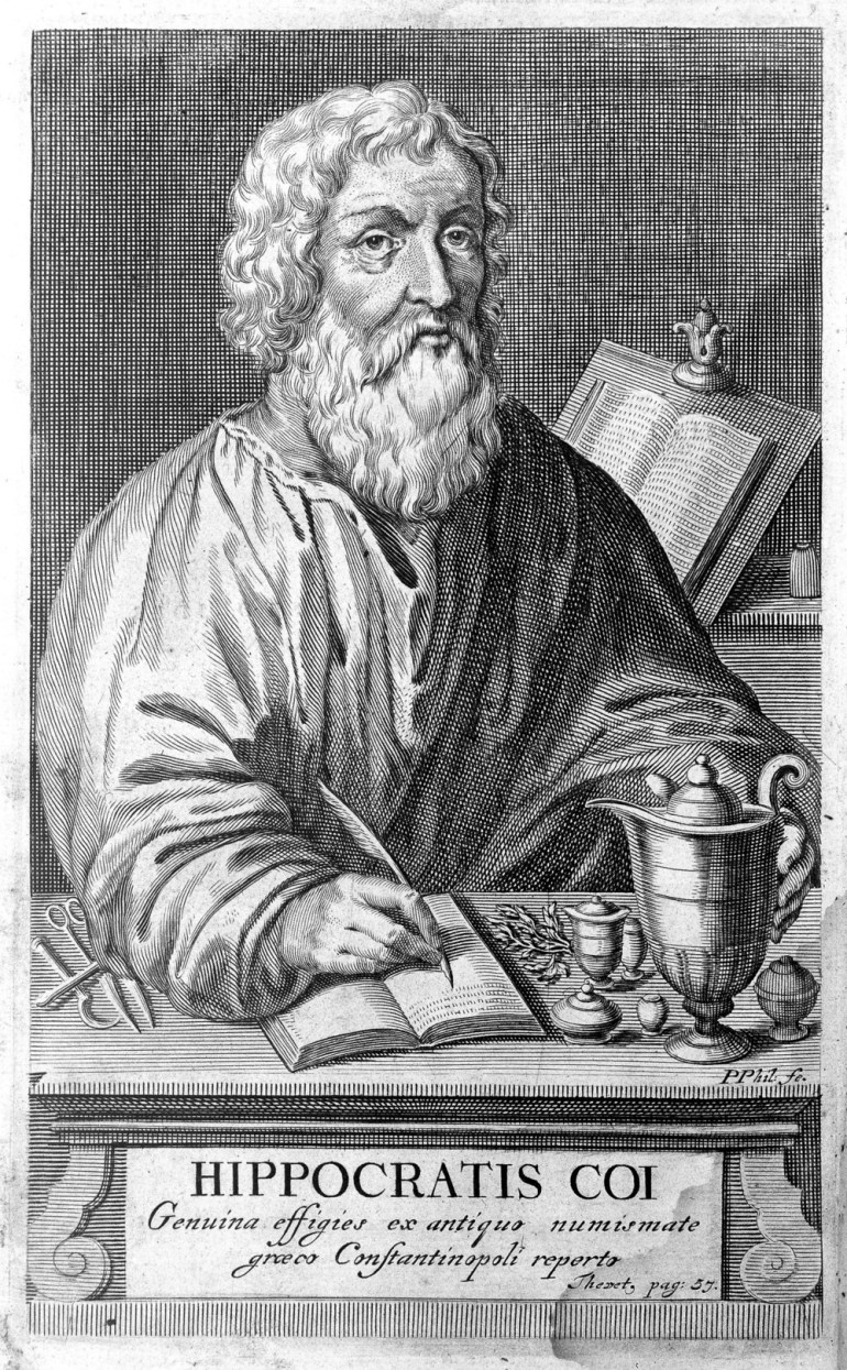 Hippocrates, or the Father of Medicine, recommended a concoction of opium, essence of roses, wine, and the oil of green olives or a mixture of cumin, pigeon droppings, crushed horseradish, and nettles for balding. He sometimes used pigeon droppings alone for this problem.
