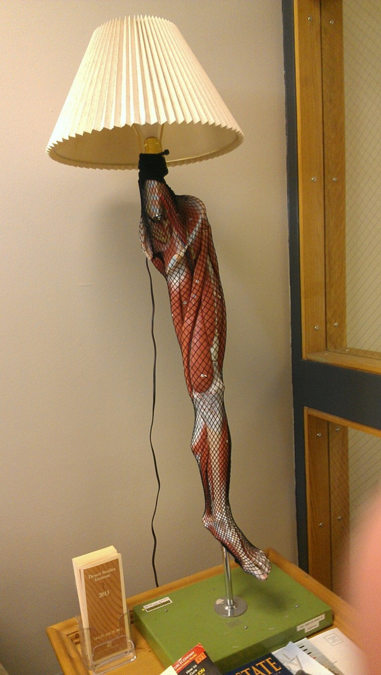 Who doesn't want a human anatomy leg trophy?