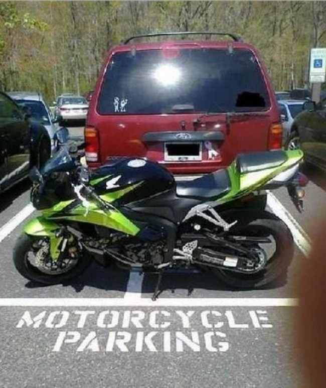 Don't park in a parking spot that's not meant for you.