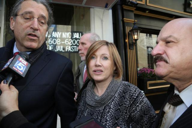 Anna Gristina leaving court in 2012. (Source: NY Daily News)
