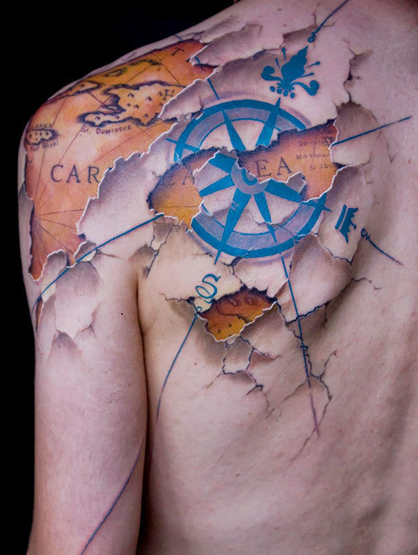A map underneath the skin.