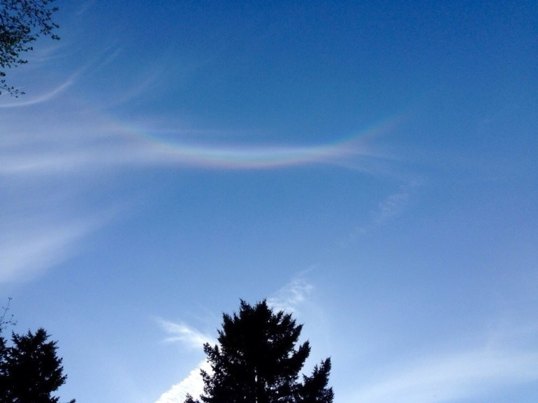 An upside down rainbow.