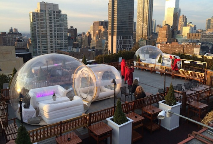 The 230 Fifth is the largest outdoor rooftop garden in New York City.