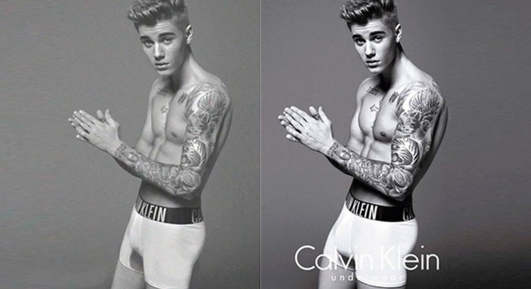Justin Bieber. Notice where the enhancements were made? Do ya?