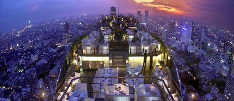 The Vertigo Bar provides a stunning panoramic view of Bangkok, Thailand.