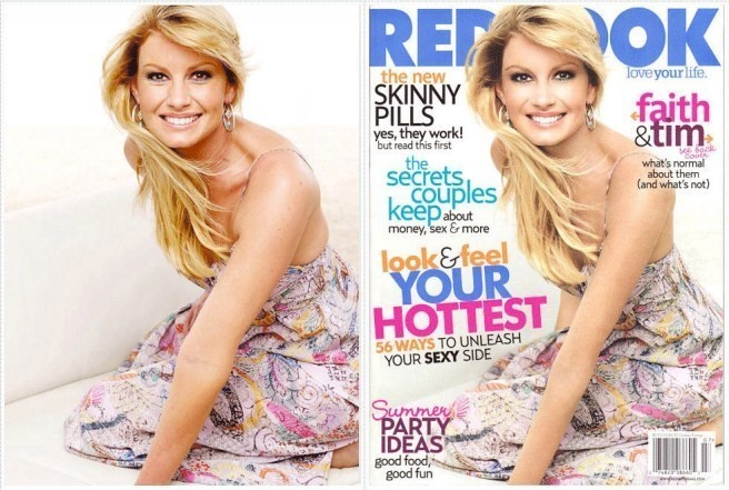 Faith Hill's arm did not need to look any thinner.