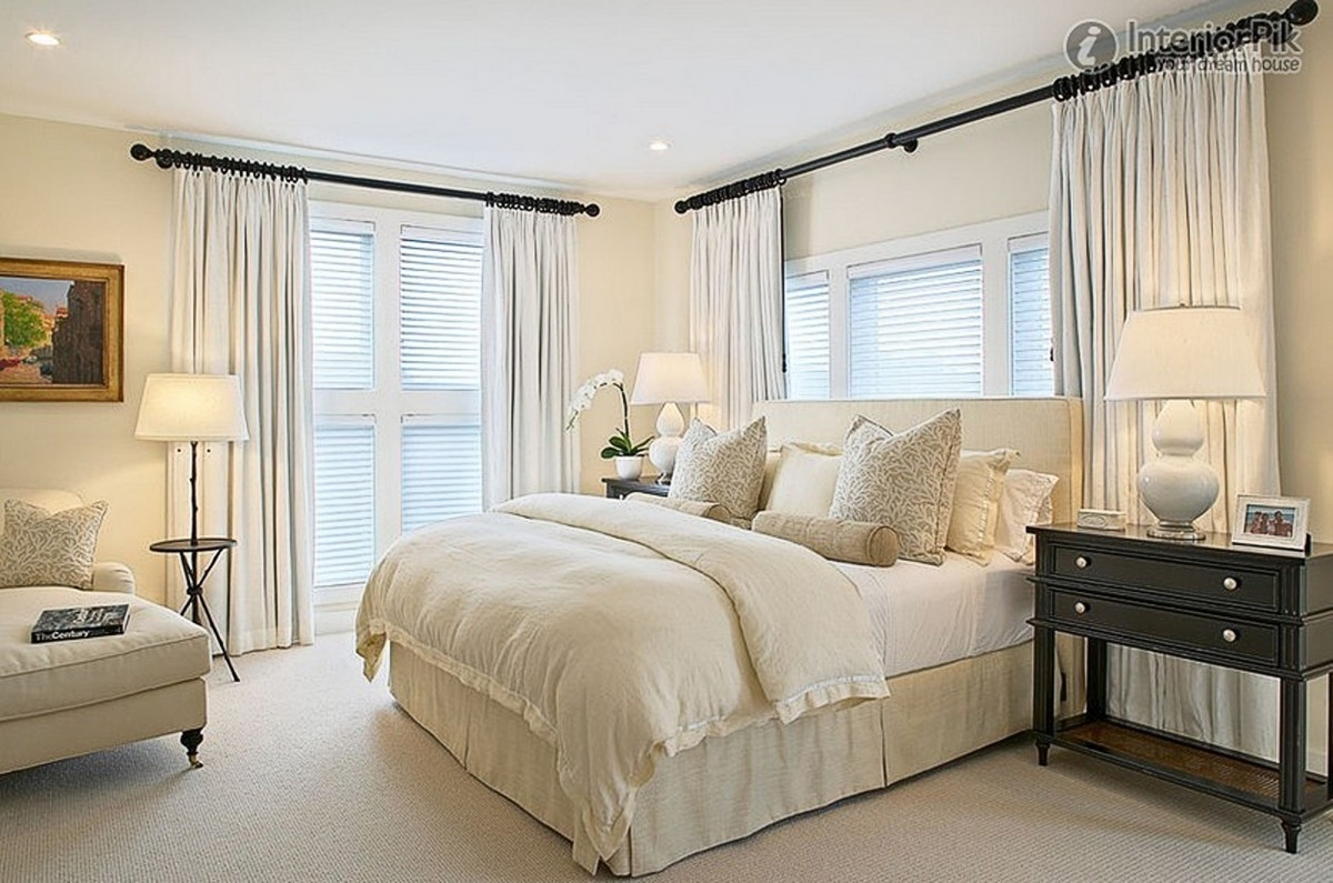 bedroom modern curtain designs for