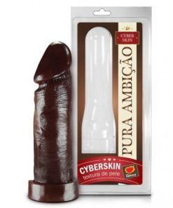 Capa Peniana Cyberskin Chocolate 16×5 Cm