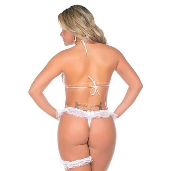 Mini Fantasia Sexy - Pimenta Sexy - Branco- Fantasia Feminina