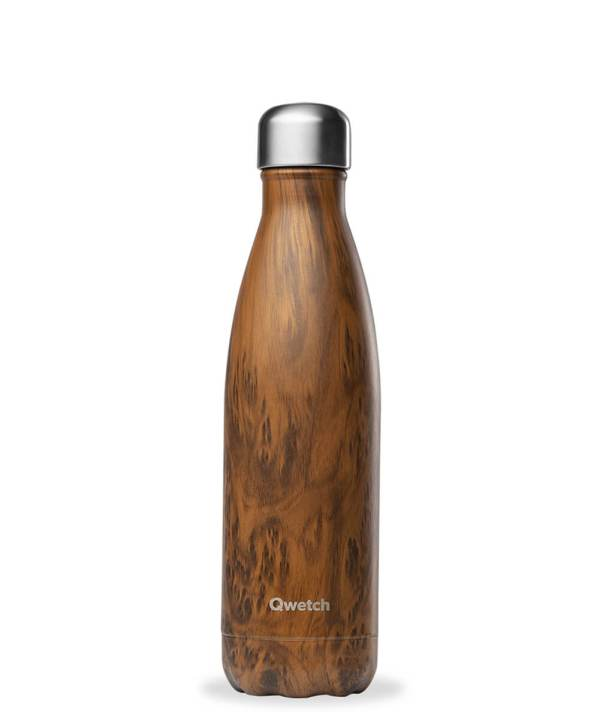 Bouteille isotherme Qwetch 500ml wood