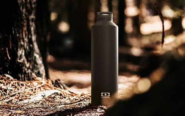 monbento-bouteille isotherme-noir-mat