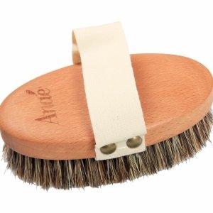 Brosse de massage en crin de cheval et bois de hêtre