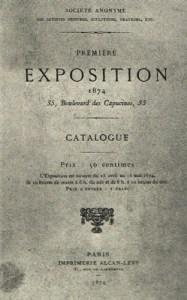 Strona tytułowa katalogu wystawy z 1874 roku