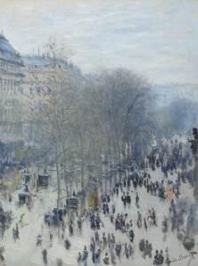 Bulwar Capucines - Claude Monet. Jeden z obrazów zaprezentowanych na wystawie.