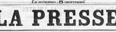"""Artykuł w """"La presse"""" Emil'a Cordona 29 kwietnia 1874 rok"""