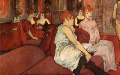 """""""W salonie przy ulicy des Moulins"""" 1894 – Henri de Tolouse – Lautrec"""