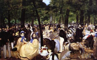 """""""Koncert w ogrodzie Tuileries"""" 1862 – Edouard Manet"""