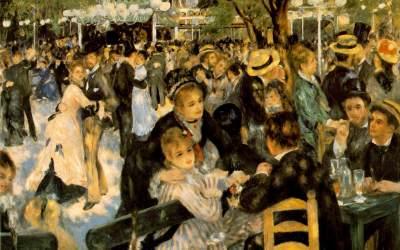 """""""Moulin de la Galette"""" 1876 – Auguste Renoir"""