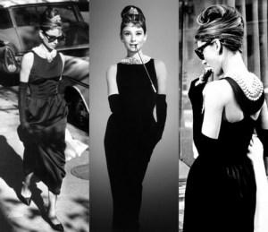 Audrey Hepburn w małej czarnej projektu Huberta de Givenchy
