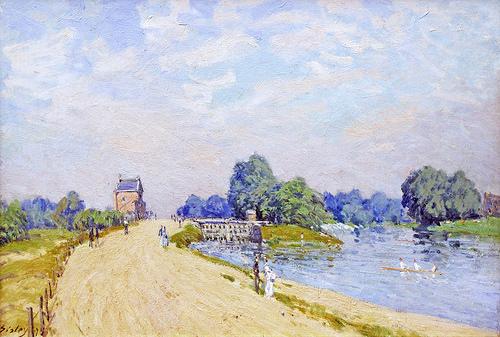 """Droga z Hampton Court do Molesey"" 1874 – Alfred Sisley"