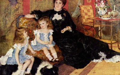 """Portret pani Charpentier z dziećmi"" 1878 – Auguste Renoir"