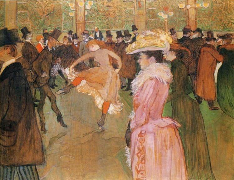 """Valentin le Desosse ustawia nowe (tancerki)"" 1889-1890 – Henri Toulouse Lautrec"