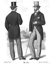 Moda męska  - druga połowa XIX wieku