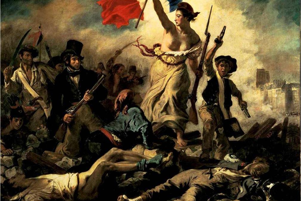 """""""Wolność wiodąca lud na barykady"""" – 1830 – Eugene Delacroix"""