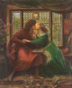 Pablo i Francesca da Rimini - Dante Gabriel Rossetti, 1867