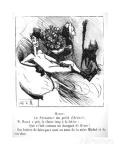 Karykatura Olimpi w jednym z pism