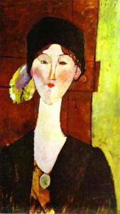 Amadeo Modigliani -Portret Beatrice Hastings przed drzwiami, 1915