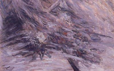 """Camille na łożu śmierci"" – 1879 Claude Monet"