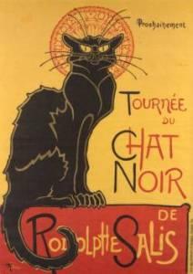 """Słynny plakat """"Chat Noir"""" autorstwa Théophile'a-Alexandre'a Steinlena, 1896"""