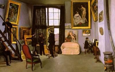 """Pracowania"" Frederic Bazille 1870"