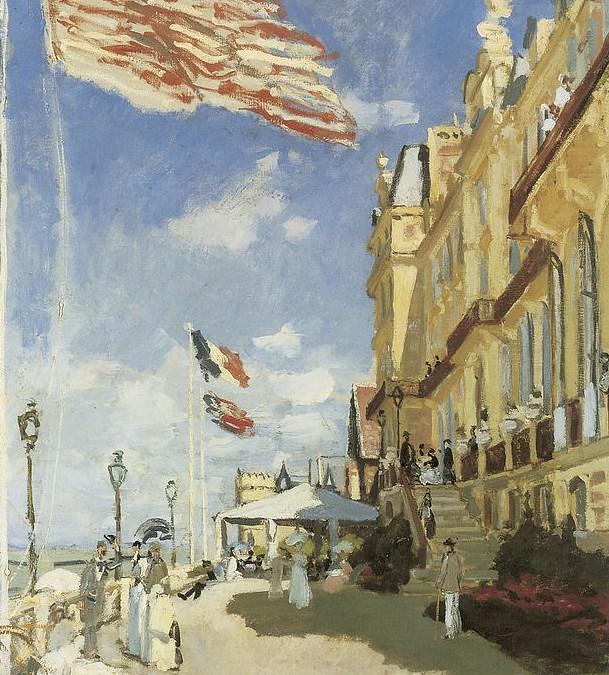 """""""Hotel Roches Noires w Trouville"""" 1870 Claude Monet"""