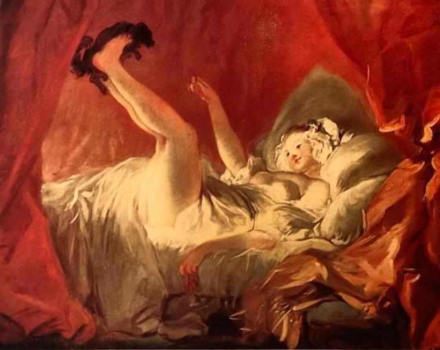 """Erotyzm i Rokoko """"Dziewczyna igrająca z pieskiem"""" 1768 – Jean Honore Fragonard"""