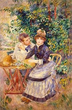 """""""W ogrodzie"""" Pierre-Auguste_Renoir 1885"""