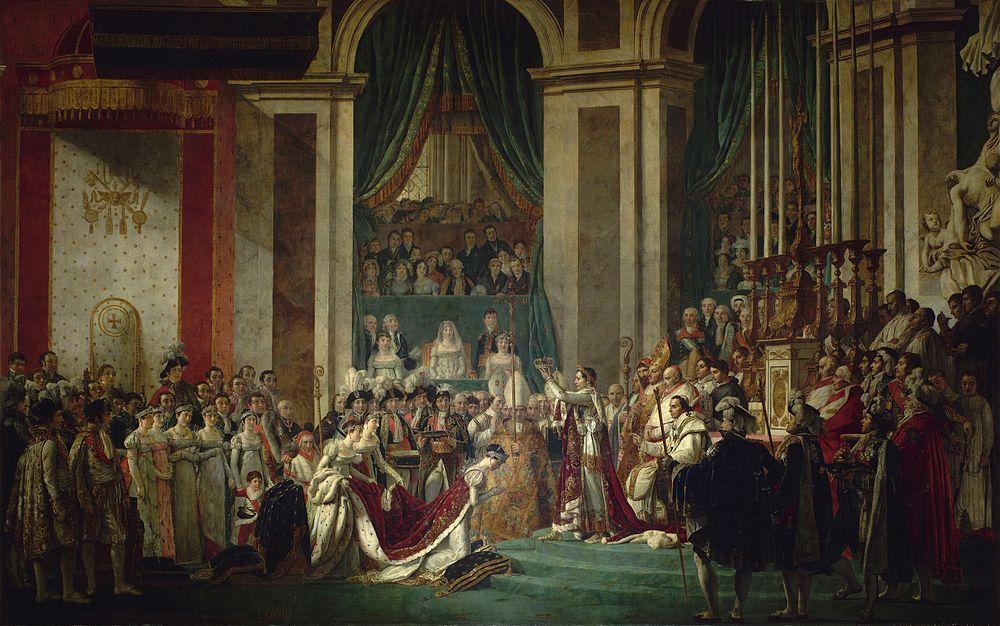"""Jacques-Louis David """"Koronacja Napoleona"""" 1804"""