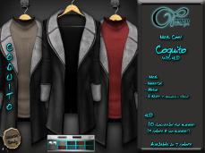 "Mesh coat ""Daviken"" in Black"