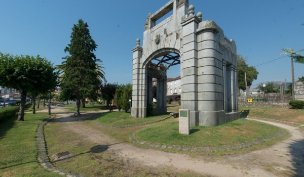 Templete de San Luis en su ubicación actual en Porriño | Fotografía: Ayuntamiento de Porriño