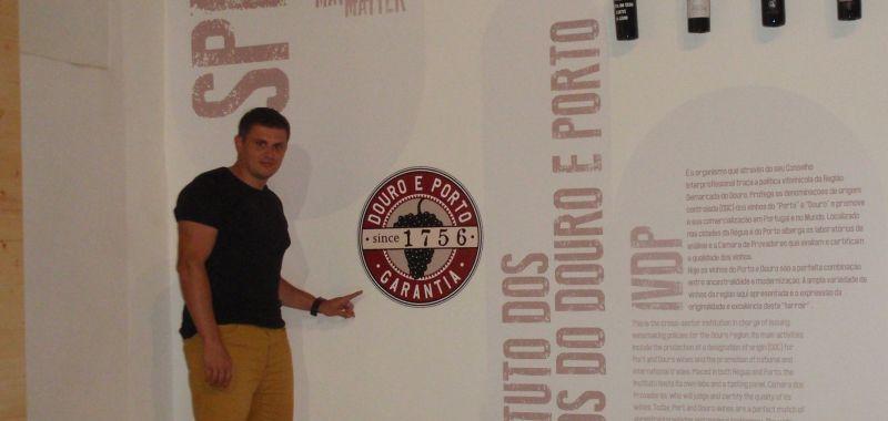 Vyobrazena na stěně - Muzeum portského vína ve městě Régua