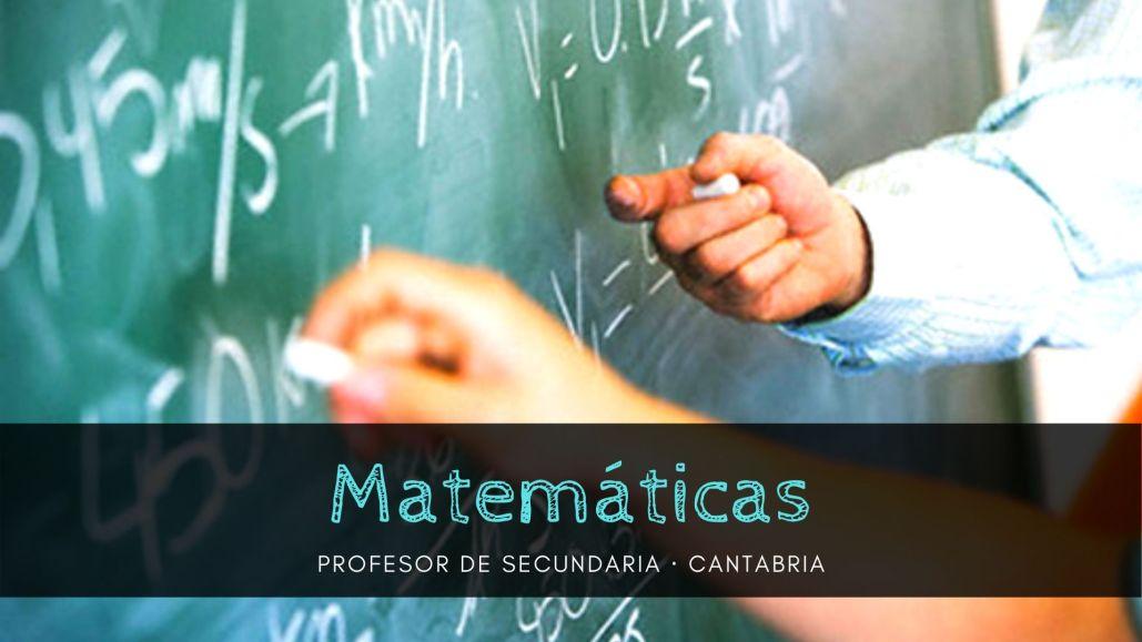 preparador oposiciones secundaria matematicas