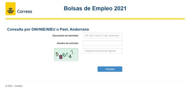 Publicadas las listas definitivas de la Bolsa de empleo de Correos 2021