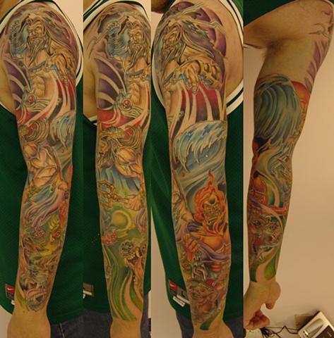 Best Tattoo Design Robot House Tattoos Zeus Poseidon And Hades Sleeve